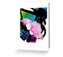 A Refined Modern Look with Sensual Pink Roses Greeting Card