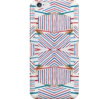 Red, Blue, & White Repeating iPhone Case/Skin