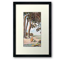 The Pooh Vintage Framed Print