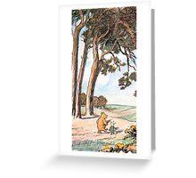 The Pooh Vintage Greeting Card