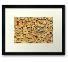 Collect ten flowers for a pavlova picnic Framed Print