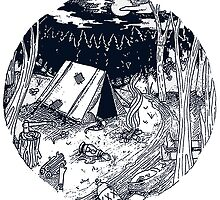 Camp site by Samantha Lusher