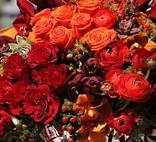 Red Heart Bouquet by Captaincaiti