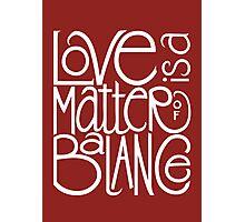 Love Balance Photographic Print