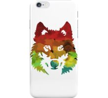 Colour Patch Wolf iPhone Case/Skin