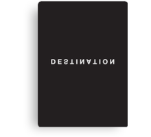 Destination Minimalist Black & White Tee Canvas Print