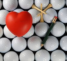 golf heart by Gale Distler