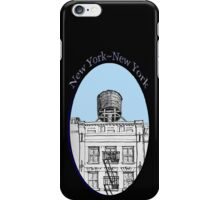 NYC-Water tower above SoHo building iPhone Case/Skin