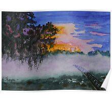 Fog at Sunrise Poster