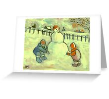 The Snowman Greeting Card