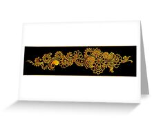 gold indian border Greeting Card