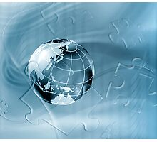 Geography abstract background Photographic Print