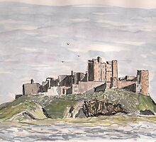 Bamburgh Castle by GEORGE SANDERSON