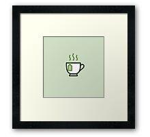 Tea Icon - Drinks Series Framed Print