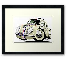 VW Beetle Herbie the Lovebug Framed Print