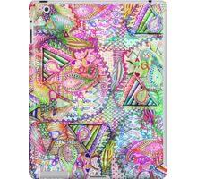 Abstract Girly Neon Rainbow Paisley Sketch Pattern iPad Case/Skin