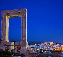 The Portara & the Chora - Naxos island by Hercules Milas