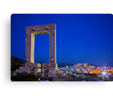 The Portara & the Chora - Naxos island Canvas Print