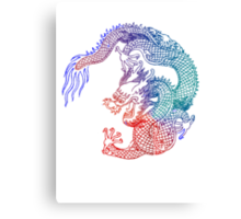 Asian Art Rainbow Dragon Canvas Print