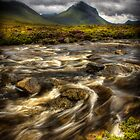 Marsco and swollen river at Sligachan, Isle of Skye. Scotland. by photosecosse /barbara jones