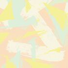 Modern abstract retro yellow mint pink brushstroke by GirlyTrend