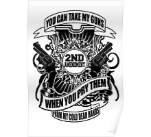you can take my guns when you prey them from my cold dead hands Poster
