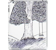 Lonely tree chair iPad Case/Skin