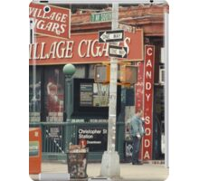 Village Cigars - New York City Store Sign Kodachrome Postcards  iPad Case/Skin