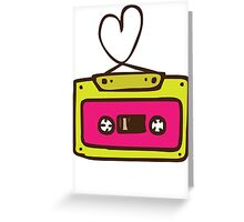Hand Drawn Audio Tape Cassette Greeting Card