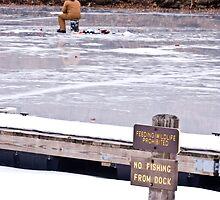 It's Ok To Fish On The Ice by Tony  Bazidlo