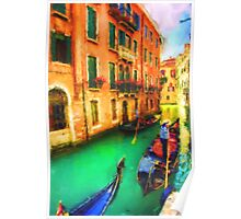 Gondola Canal Poster