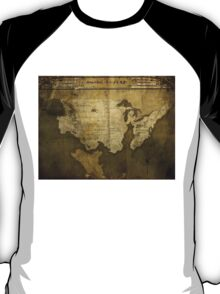 Map of Future America: 6023 A.D. T-Shirt