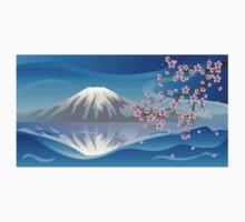 Branch of Sakura and Volcano T-Shirt