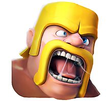 Barbarian Clash of Clans Art Photographic Print