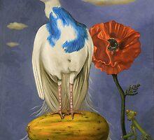 Peacock On A Papaya by LeahSaulnier