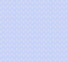 Cream Flourishes on Blue by pyktispix