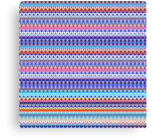 Repeating geometrical figures  Canvas Print