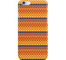 Colorful repeating geometrical stripes iPhone Case/Skin