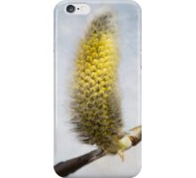 Willow Catkins - Silver World - Square iPhone Case/Skin