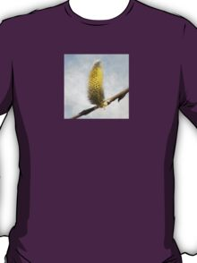 Willow Catkins - Silver World - Square T-Shirt