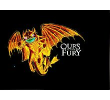 Ours is the Fury - Night Fury How to Train Your Dragon (orange) Photographic Print
