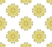 ornamental repeating yellow pattern  by Deanora