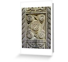 Relief Carvings Greeting Card