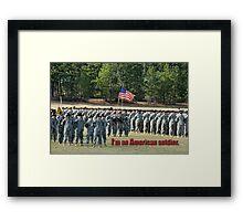 American Soldier Framed Print