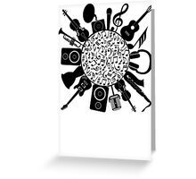 Music Notes  Instrument Collage Greeting Card