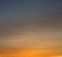 highland sunset   Sticker