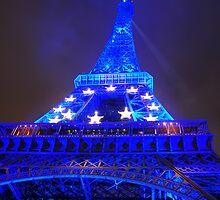 Blue Eiffel Tower by Tinkerbella