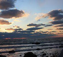 Philbin Beach Sunset 2 by Allison  Colarusso