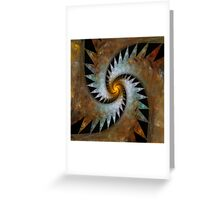 'Origami Spiral Universe' Greeting Card