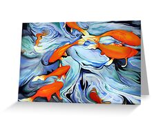 Fire Water Abstract Greeting Card